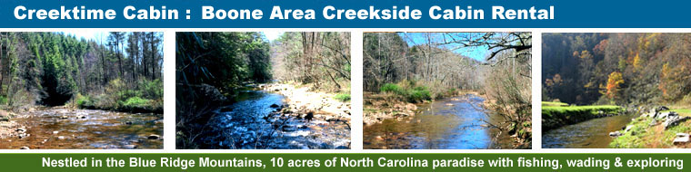 Creekside Cabins in Deep Gap, North Carolina, Near Boone NC